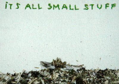 It's all small stuff