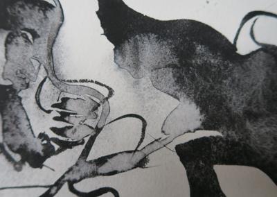 Sort blomst 04